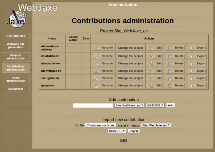 WebJaxe : Page for printing