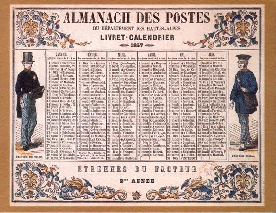 Calendrier Poste.Le Calendrier De La Poste Page Pour L Impression